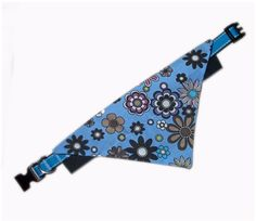 Daisy Doo Blue Bandana And Collar Set Pet Steps, Blue Daisy, Pet Accessories, Grosgrain Ribbon, Small Dogs, Printed Cotton, Bandana, Your Pet, Dogs And Puppies