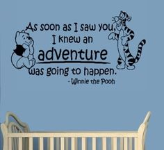 Winnie The Pooh-Adventure-Pooh and Tiger-Wall Sticker-Home Decor-Wall Decal- Wall inches-Wall Art-Sticker Decals-Wall Sticker-Wall Decals-Wall Decor-Wall ...  sc 1 st  Pinterest & 68 best Winnie The Pooh Quotes images on Pinterest | Pooh bear Wall ...