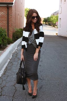 the daybook blog jacket: h, tank: stylemint, skirt: stylemint, shoes: windsor store, bag: the bossi bag