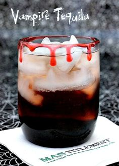 Vampire Tequila is the perfect cocktail for your Halloween party! www.mantitlement.com