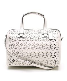 Another great find on #zulily! Ivory Taylor Eyelet Leather Satchel by Coach #zulilyfinds