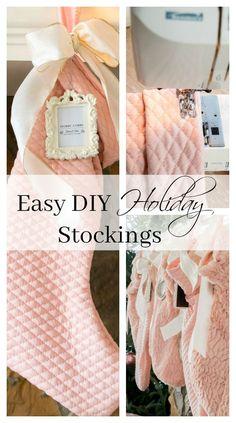 Easy DIY Holiday Stockings - Duke Manor Farm