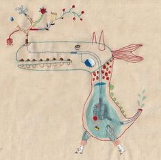 "♒ Enchanting Embroidery ♒ embroidered illustration | Annalisa Bollini | ""Bestiario"""