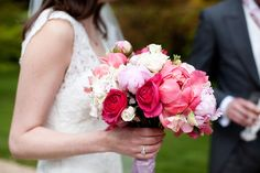 Image by Lillian & Leonard Wedding Photography - Elegant English Wedding At The Matara Centre In The Cotswolds With A Jenny Lessin Dress And A Pink Bouquet By Lillian & Leonard Wedding Photography.