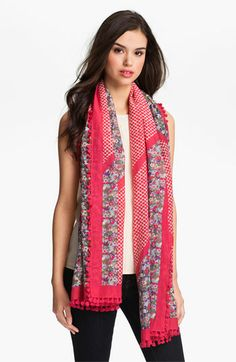 Tory Burch 'Carlyle' Scarf available at #Nordstrom