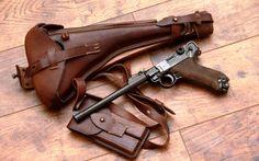 German gun Luger Parabellum P08 artillery model / Германский пистолет Люгер Парабеллум P08 артиллерийская модель.