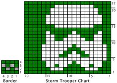 Stormtrooper and border charts - i do love a good geek knit!