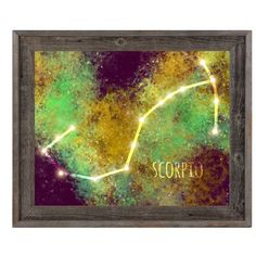 Click Wall Art 'Scorpio in Space' Framed Graphic Art Size: