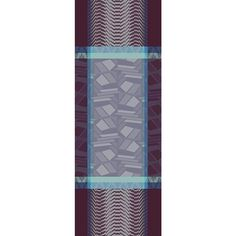 Sélection mois du blanc - Chemin de table Garnier-Thiebaut - Modèle : Cinetik - Chemin de table en coton anti-tache - Coloris : gris et violet