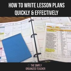 Unsure of how to write elementary lesson plans? This post shares tips for writing great lesson plans quickly and efficiently. Guided Reading Organization, Paper Organization, Teacher Organization, First Year Teachers, New Teachers, Elementary Teacher, Teacher Must Haves, Teacher Hacks, Time Management