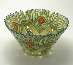 3-405 - Large grass bowl, 3 1/2 inches tall x 6 1/2 inches diameter by Emily Squires Levine