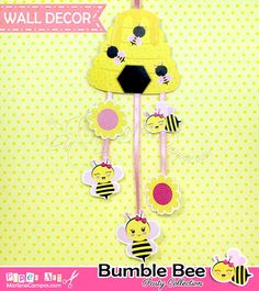 INSTANT DOWNLOAD Bumble Bee Party Decoration by PaperArtbyMC