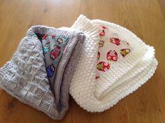 2 baby gebreide dekentjes