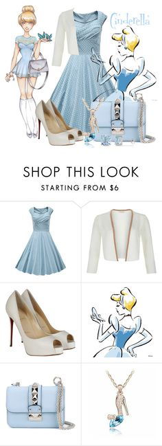 """Cinderella"" by elona-makavelli ❤ liked on Polyvore featuring Disney, Monsoon, Christian Louboutin, Valentino and Ice"