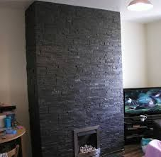 Image result for grey Stone Tile Fireplace | Stacked Stone Tile ...