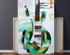 Abstract Painting Guitar Painting Black & White Painting