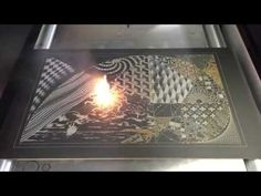A Specialized 'Laser Art' System Etches a Design onto a Chalkboard with Astonishingly Rapid Speed | Colossal
