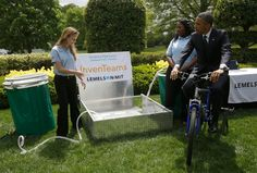 bike powered water santiation white house science fair 2013