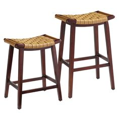 An Asian-informed stool with a modern aesthetic, Keating's simple A-frame is crafted of smooth birch wood and braced by a sturdy box stretcher. The comfortably curved seat is wrapped in hand-woven synthetic leather strapping and features handles on either side. So you can grab one fast.