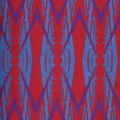 thumbnail for Industry I: Loom-woven textile in red, blue and purple