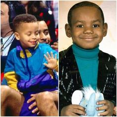 Stephan Curry and LeBron James as kids!