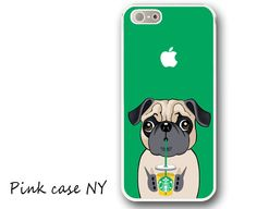 iPhone 5 Case, iPhone 5S Case - I love Starbucks - Pug / iPhone 5S Case, iPhone 5S Cover, Cover for iPhone 5S, Case for iPhone 5S