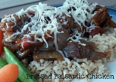 Braised Balsamic Chicken Recipe on MyRecipeMagic.com