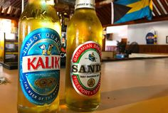 Bahamians know their beer. Kalik and SANDS are the beers of the Bahamas. Whether you are cruising around the islands in a boat or sitting on a white sand beach, you're going to crave an ice cold beverage to cool you down. Which of these beers are you going to choose?Last week I was in