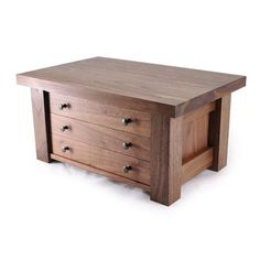 Mission Jewelry Box Walnut Three Drawers