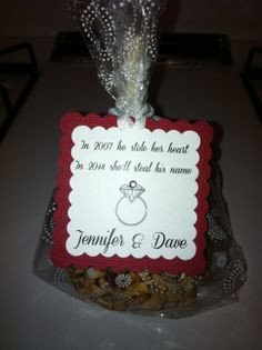 Candy Apple Bridal Shower favors
