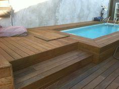 Tour de piscine en bois exotique ipe à marseille