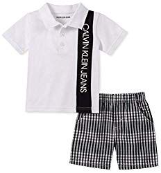 Get your little one ready for the spring with this adorable Polo Bodysuit and Short Set from Calvin Klein. The checkered plaid shorts pair well with the cool white one-piece bodysuit for a snazzy and fun look. Calvin Klein 2, Calvin Klein Jeans, White One Piece, Kids Clothes Boys, One Piece Bodysuit, Plaid Shorts, Preppy Style, Baby Clothes Shops, Trendy Plus Size