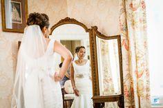 The Bride had a lovely grey flower wrap around her waistline.