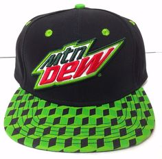 12b088b3afd New MOUNTAIN DEW SNAPBACK HAT Black Geometric Cube Flat Bill Mtn  Men Women Teen