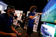 David Luiz and Layvin Kurzawa were able to test preview FIFA 17 game at the heart of the Youtube Space in Los Angeles