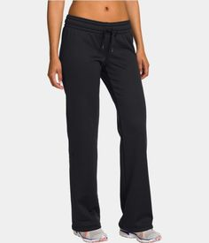 under armour fleece pants - black. $49.99.