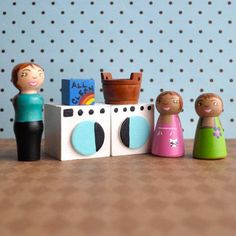 Wooden Toy   Dollhouse Laundry Room Set  by TheEnchantedCupboard