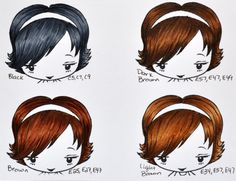 Color Me Copic: Hair Colors - By Mary Giles  I so appreciate a recipe to make my coloring simple.