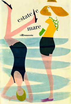 '50s vintage Poster by Lora Lamm for laRinascente
