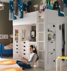 tiny box room, ikea stuva loft bed. making the most of small