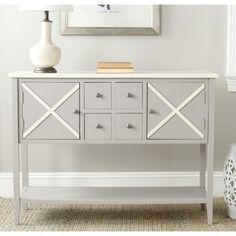 Shop for Safavieh Adrienne Grey/ White Storage Sideboard. Get free shipping at Overstock.com - Your Online Furniture Outlet Store! Get 5% in rewards with Club O! - 15472842