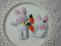 Keçe Tavşan Bebek Şekeri