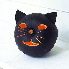 DIY Halloween : DIY Conjure up a cat pumpkin DIY Halloween Decor