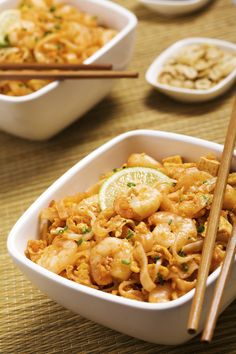 Busy? Tired? Takeout is not the answer. Turn to an easy, 20-minute pad Thai recipe that's savory, gluten-free, and packed with protein!