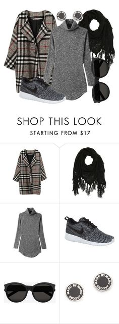 """""""Running to the Market"""" by amanda-renee-kay ❤ liked on Polyvore featuring Charlotte Russe, NIKE, Yves Saint Laurent and Marc by Marc Jacobs"""