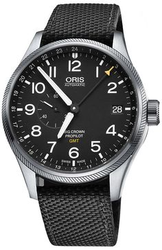 Oris Big Crown ProPilot GMT Small Seconds 74877104164FS Mens 45mm Swiss Luxury Aviation Watch - Buy Now Guaranteed 100% Authentic with FREE Shipping at AuthenticWatches.com