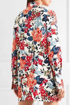 Sonia Rykiel - Floral-print Crepe Mini Dress - Orange - FR36