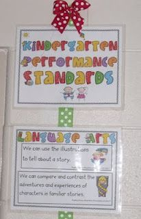 she uses ribbon to hang her charts. cool! Mrs Jump's class: Frog Street Splash and Common Core Standards