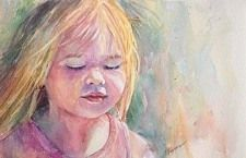 Little HaileThumb by gabriele baber Watercolor ~ 10 x 6.5