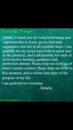 Prayer Scriptures, Bible Prayers, Faith Prayer, Catholic Prayers, God Prayer, Prayer Quotes, Prayer Before Sleep, Sleep Prayer, Evening Prayer Catholic